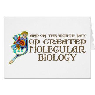 Dios creó biología molecular tarjeta de felicitación
