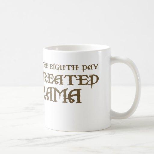Dios creó drama taza de café