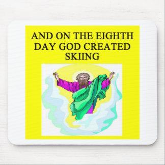 dios creó el esquí alfombrilla de ratones