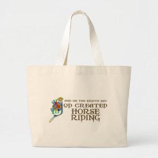 Dios creó el montar a caballo bolsa tela grande