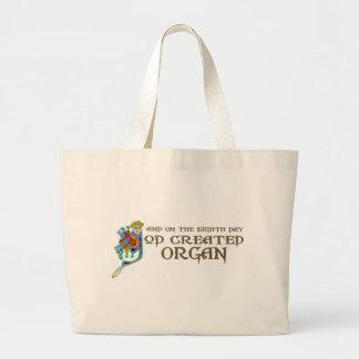 Dios creó el órgano bolsa tela grande