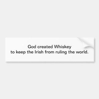 Dios creó el whisky - pegatina para el parachoques pegatina para auto