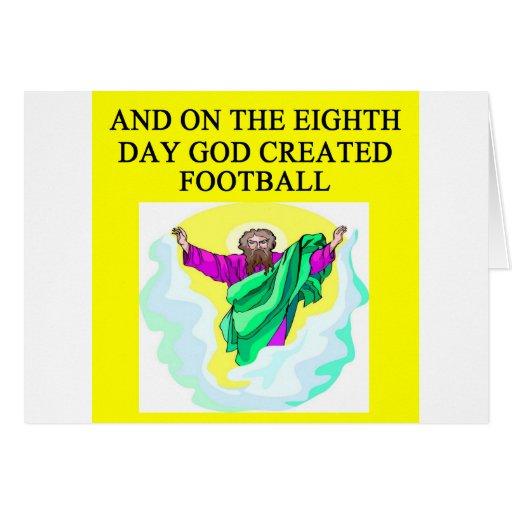 dios creó fútbol tarjeta de felicitación