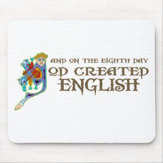 Dios creó inglés alfombrillas de ratones