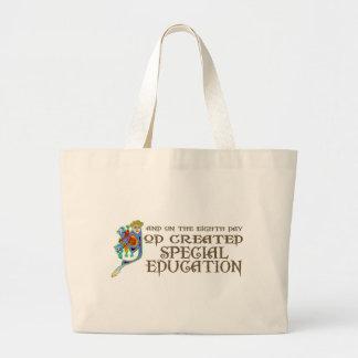 Dios creó la educación especial bolsa tela grande