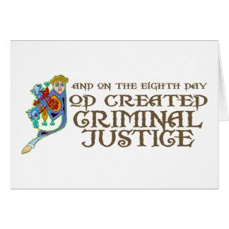 Dios creó la justicia penal felicitaciones