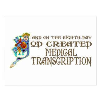 Dios creó la transcripción médica postal
