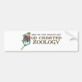 Dios creó la zoología etiqueta de parachoque