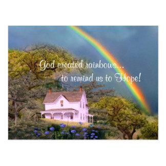 Dios creó los arco iris… postales