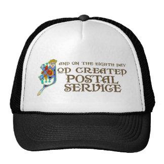 Dios creó servicio postal gorro de camionero