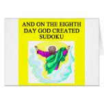 dios creó sudoku felicitaciones
