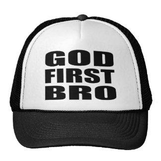 DIOS cristiano PRIMER BRO de la ropa Gorros
