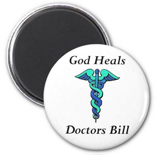 Dios cura, doctor a Bill Imán Redondo 5 Cm