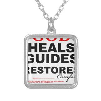 DIOS cura, las guías, y comodidad de los Colgante Cuadrado