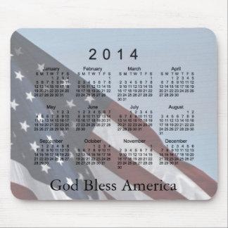 Dios de 2014 calendarios bendice América Alfombrilla De Ratones