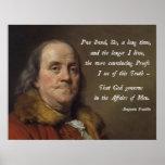 Dios de Benjamin Franklin Impresiones
