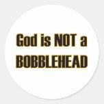 Dios de Bobblehead Pegatinas Redondas