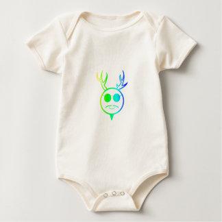 Dios de cuernos 2 del arco iris body para bebé