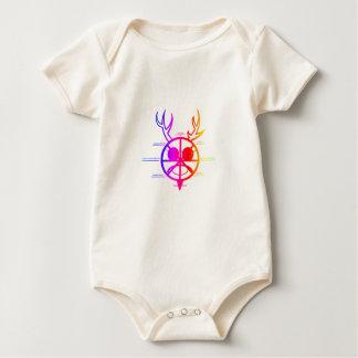 Dios de cuernos del arco iris body para bebé