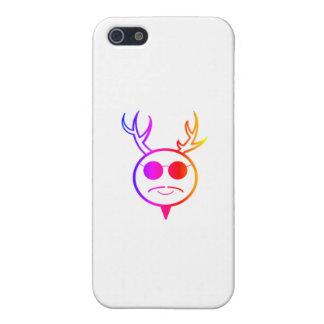 Dios de cuernos del arco iris iPhone 5 cárcasas