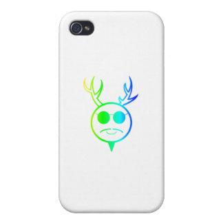 Dios de cuernos del arco iris iPhone 4 protector