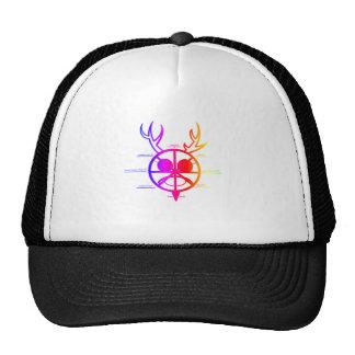 Dios de cuernos del arco iris gorros