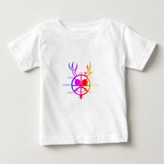 Dios de cuernos del arco iris playera de bebé