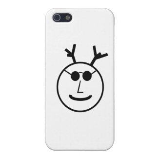 Dios de cuernos en sombras iPhone 5 carcasas