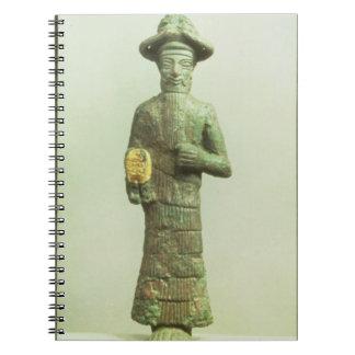 Dios de Elamite con la mano de oro de Susa, Southw Libro De Apuntes