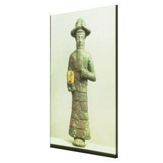 Dios de Elamite con la mano de oro de Susa, Southw Impresión En Tela