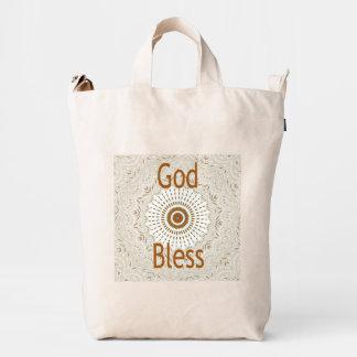 Dios de Hakuna Matata bendice el bolso de la lona Bolsa De Lona Duck