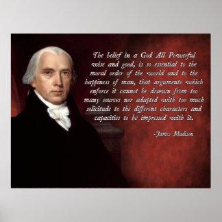 Dios de James Madison Póster