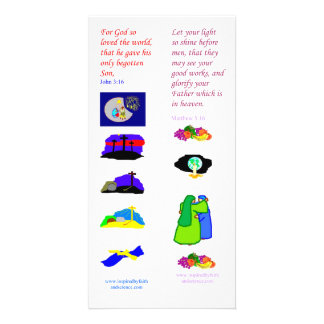 Dios de KJV amó tan el mundo - tarjeta de la señal Tarjetas Fotográficas