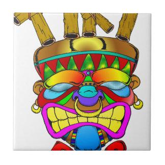 Dios de la barra de Tiki Azulejo