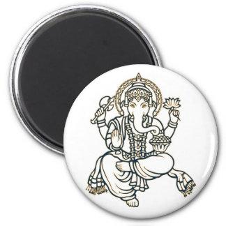 Dios de la deidad hindú de Ganesha Imán Redondo 5 Cm