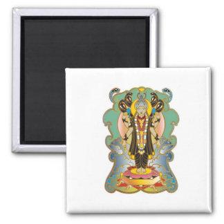 Dios de la deidad hindú de Vishnu Imán Cuadrado