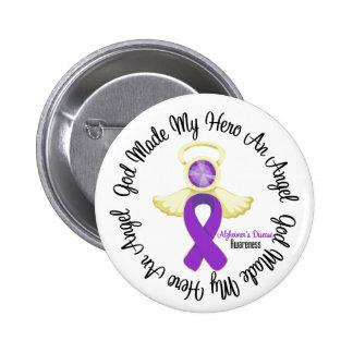 Dios de la enfermedad de Alzheimers hizo mi héroe  Pin Redondo 5 Cm