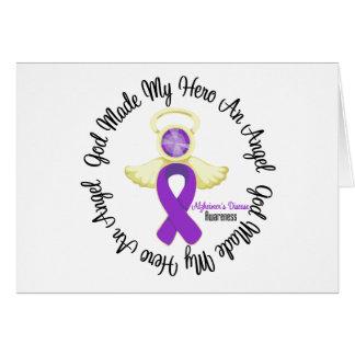 Dios de la enfermedad de Alzheimers hizo mi héroe Tarjeta