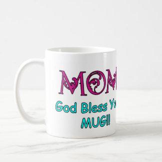 ¡Dios de la mamá bendice su taza!! Taza De Café