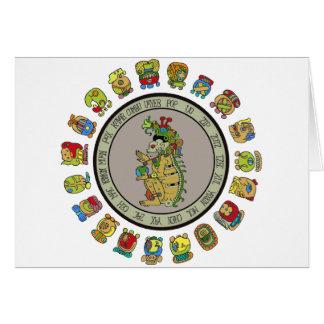 dios de la muerte del Maya-calendario Felicitaciones