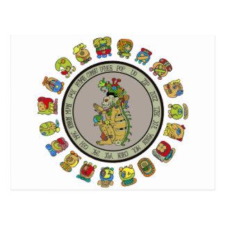 dios de la muerte del Maya-calendario Tarjetas Postales