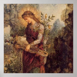 Dios de la música de Orfeo Póster