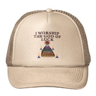 Dios de la suerte gorras de camionero