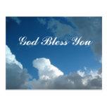 dios de las nubes le bendice postal