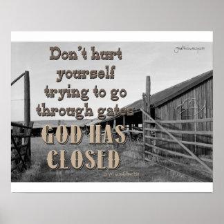 Dios de las puertas se cierra póster