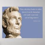 Dios de Lincoln Poster