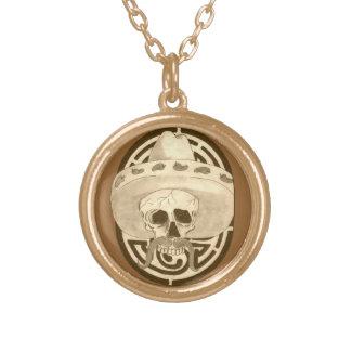 Dios de los Muertos, Dude !!! Gold Plated Necklace