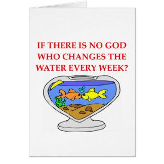 dios de los pescados tarjeta de felicitación