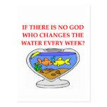 dios de los pescados tarjeta postal