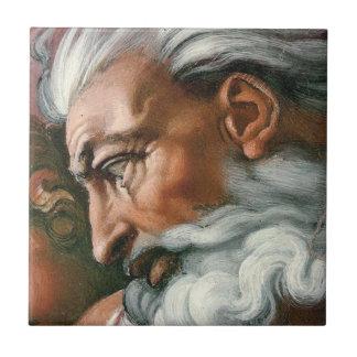 Dios de Miguel Ángel en la creación de Adán Teja